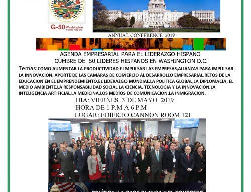 PRESIDENTE EJECUTIVO DE CORPORACIÓN VIDA ENTRE LOS 50 LÍDERES IBEROAMERICANOS INVITADOS A LA CUMBRE G50 DE WASHINGTON D.C.
