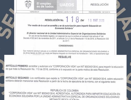 Corporación VIDA recibe acreditación institucional